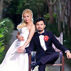 Yeng and Yan Exchange Vows in a Red-Themed Christian Wedding