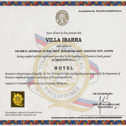Villa Ibarra Gets DOT Accreditation