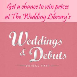 Win Cash Prizes at Wedding The Wedding Library's Wedding & Debuts 2015 Bridal Fair