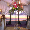 A Pearl reception setup facing the resort's magnificent view