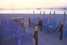 The Pearl's beachfront all set for a walk down the aisle