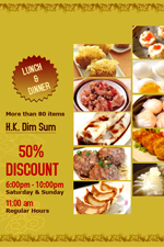 DIM SUM 50% Discount at Golden Bay Restaurant