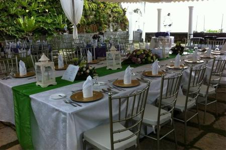 Reception Tent Setup by Villa Ibarra, Tagaytay, Backup Option For