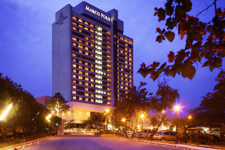 Front View of Marco Polo Plaza Cebu