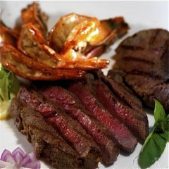Grilled Rib Eye and Triger Prawns Hizon's Catering Grand Food Tasting