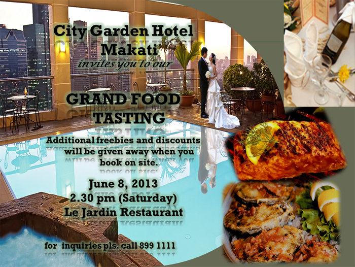 City Garden Hotel Makati Grand Food Tasting Philippine Wedding