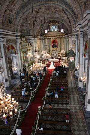 Philippine Wedding Ceremony at San Agustin Church