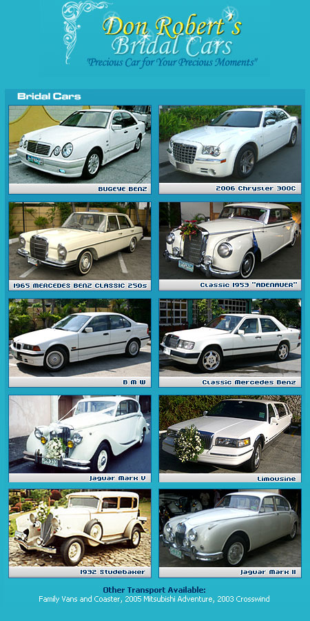 Bridal Car Rental Cebu Philippines