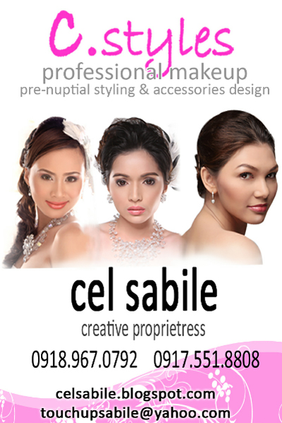Cel Sabile - Professional Hair & Make up Artist, and Wedding Accessories| Metro Manila Bridal Hair & Make-up Salons | Metro Manila Bridal Hair & Make-up Artists | Kasal.com - The Philippine Wedding Planning Guide