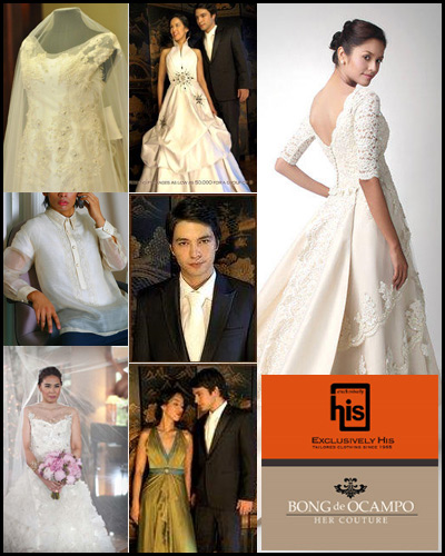 Exclusively His & Her Couture by Bong de Ocampo| Metro Manila Wedding Gowns | Metro Manila Bridal Gowns | Metro Manila Wedding Designers, Couturiers | Kasal.com - The Philippine Wedding Planning Guide