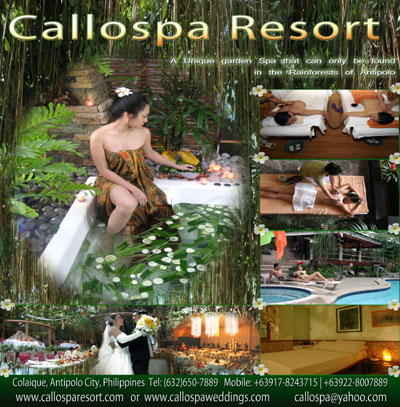Callospa & Resort| Rizal Garden Wedding | Rizal Garden Wedding Reception Venues | Kasal.com - The Philippine Wedding Planning Guide