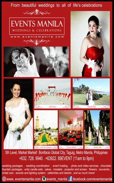 Events Manila| Metro Manila Wedding Planning | Metro Manila Wedding Planners | Kasal.com - The Philippine Wedding Planning Guide