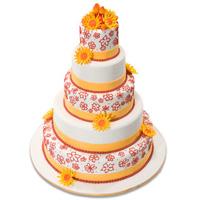 Red Ribbon New Cake Design