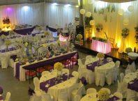 purple and white wedding