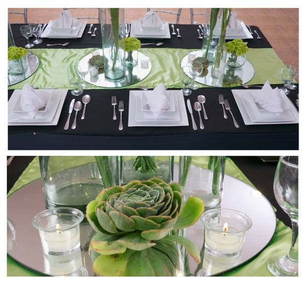 hizons catering green and black wedding