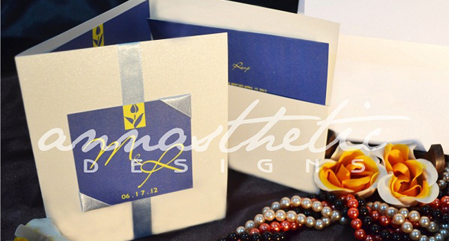 Wedding Invitation by Annasthetic Designs