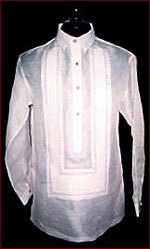 Barong Sinuksok from La Herminia Piña Weaving
