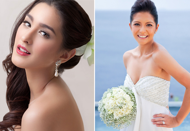 Beautiful Brides  From left to right: Hair and Make up by Lizzie Oren Makeup Artistry and Pong Niu Makeup Artist