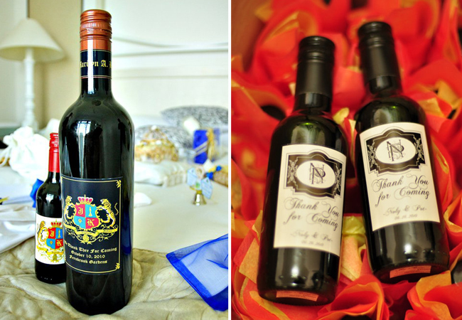 Wine Favors by My Avenue Wines