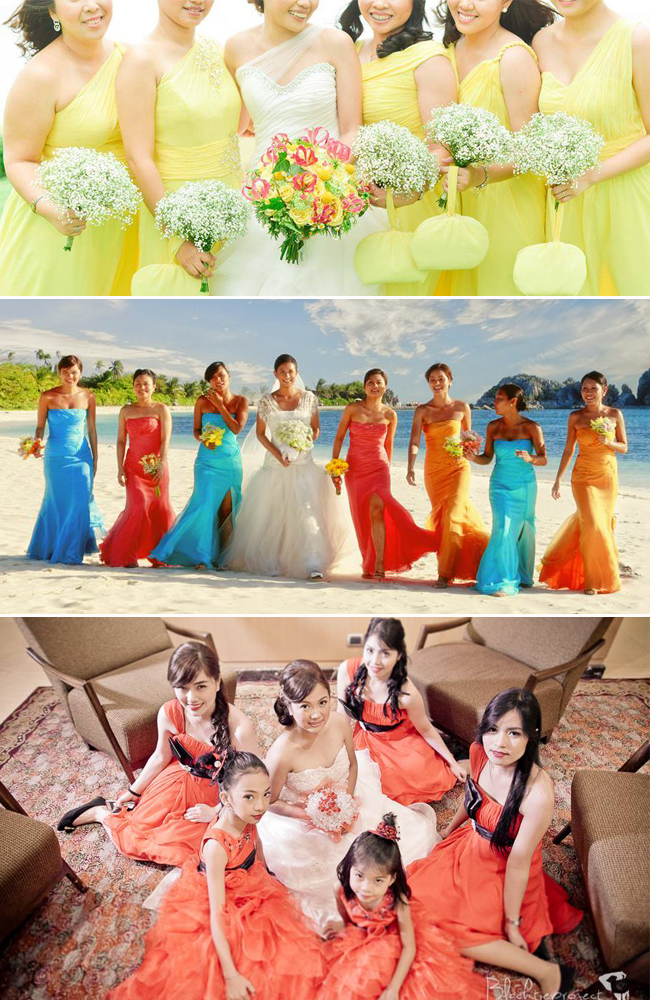 From top to bottom: Wedding Photography by Nez Cruz Fine Art Photography, Ariel Javelosa Photography and Blacktieproject