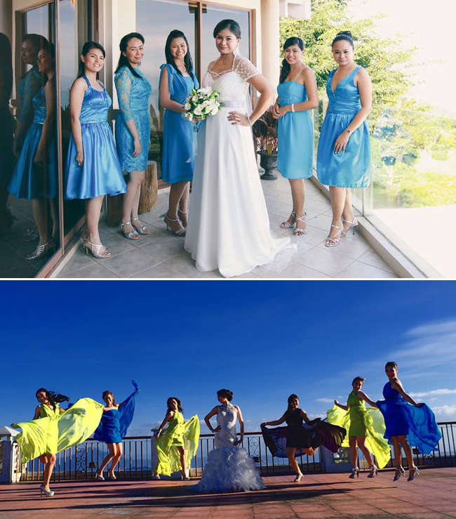 From top to bottom: Wedding Photography by Santiago Alfonso Fotografia and B. A. Studio