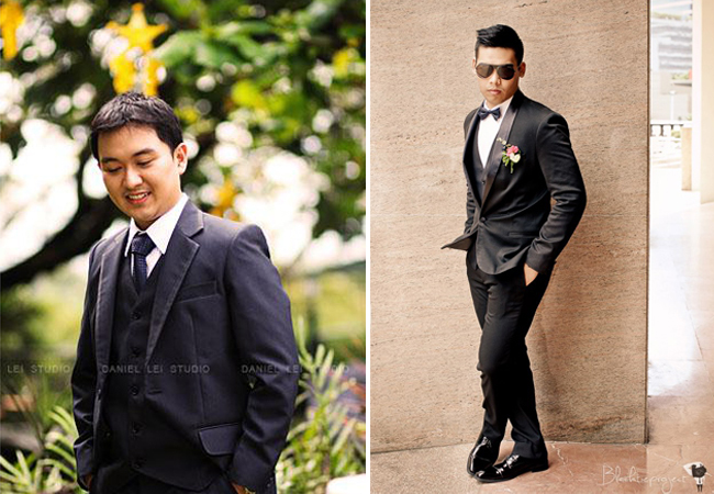 Photography By Daniel Lei Studio (left) and Black Tie Photography (right)