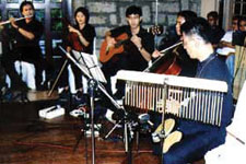 …as the Mikneiah Acoustic Ensemble entertained with their soothing music