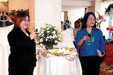 (L-R) Ms. Marie Jean dela Cruz, sales director of Bayview  Park Hotel Manila, and Ms. Herminia B. Estialbo, co-producer and events and marketing director of Blessed Concepts Production