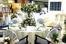 A floral table setting from Astoria Plaza