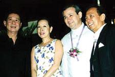 (L-R) Designer Mario Katigbak, Honorable and Mrs. Teddy Boy Locsin and Mel Meer