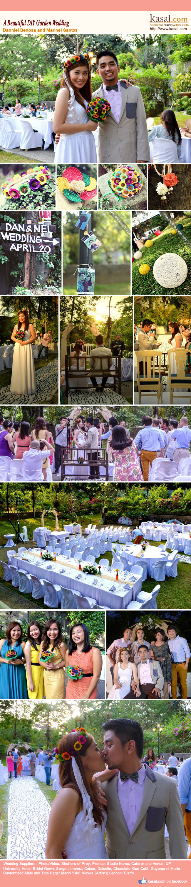 a beautiful diy garden wedding danniel benosa and marinel santos