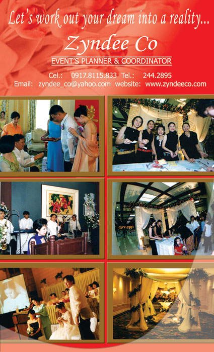 Zyndee Co - Special Events Consultant| Metro Manila Wedding Planning | Metro Manila Wedding Planners | Kasal.com - The Philippine Wedding Planning Guide