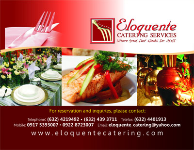 Eloquente Catering Services| Metro Manila Wedding Catering | Metro Manila Wedding Caterers | Kasal.com - The Philippine Wedding Planning Guide