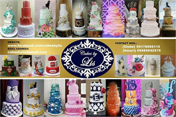 Cakes by Lis| Metro Manila Wedding Cake Shops | Metro Manila Wedding Cake Artists | Kasal.com - The Philippine Wedding Planning Guide