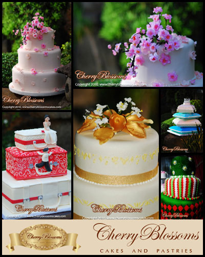 Cherry Blossoms Cakes & Pastries| Metro Manila Wedding Cake Shops | Metro Manila Wedding Cake Artists | Kasal.com - The Philippine Wedding Planning Guide