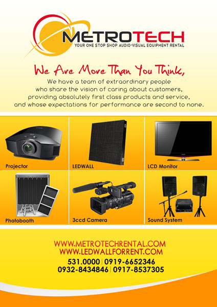 Metrotech Rental Solutions Inc.| Metro Manila Wedding Equipment Rentals (Aircon, Generators, Projectors) | Kasal.com - The Philippine Wedding Planning Guide