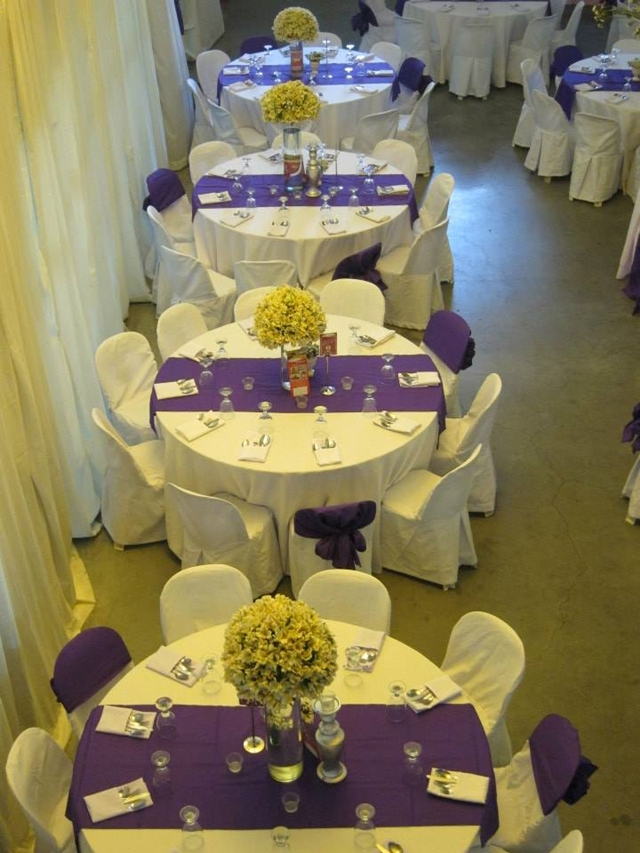 purple white wedding chef patricks kitchen