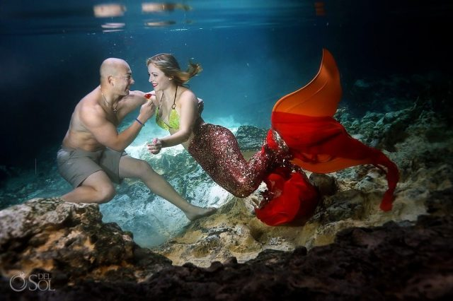 eric and cammy mermaid proposal