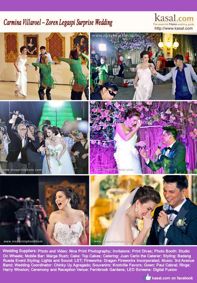 Carmina Villaroel – Zoren Legaspi Surprise Wedding - Kasal.com - The ...