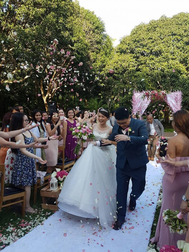 garden wedding makiling recreational center