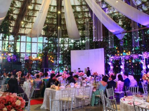 indoor wedding the glass garden