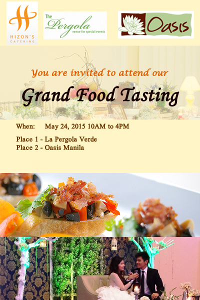 Hizon's Catering's Grand Food Tasting - Kasal.com - The ...
