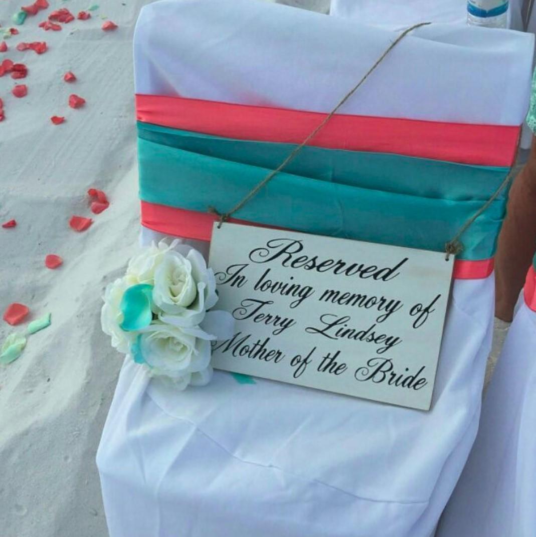 wedding memorial seat