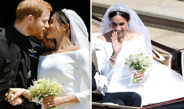 #royalwedding2018 bridal bouquet sunday express uk