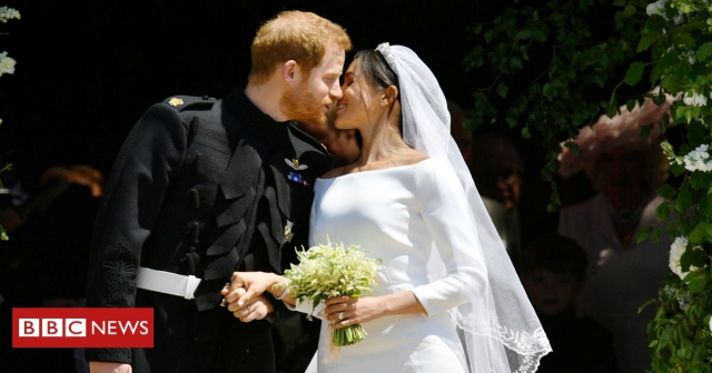 #royalwedding2018 prince harry meghan markle couple shot bbc news