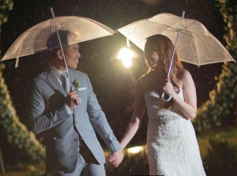 rob mae rainy wedding