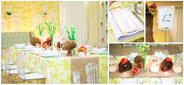 floral rustic theme hizons catering