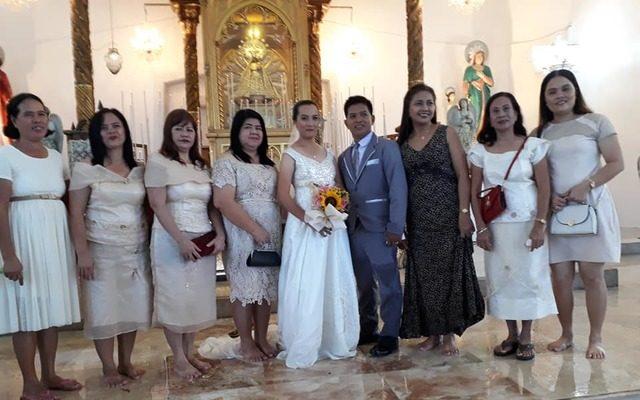 flooded wedding