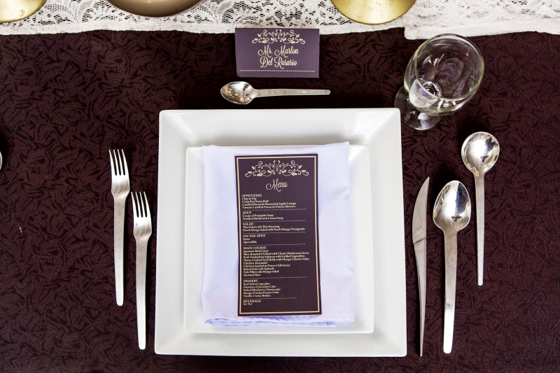 simple elegant hizons catering theme