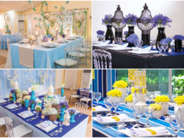 blue wedding themes hizons catering